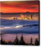 Fog Inversion Over Vancouver Canvas Print by Alexis Birkill