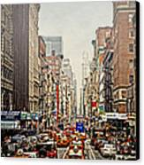 Foggy Day In The City Canvas Print by Kathy Jennings