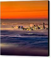 Foggy Sunrise Canvas Print by Alexis Birkill