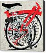 Folded Brompton Bike Canvas Print by Andy Scullion