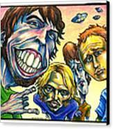 Foo Fighters Canvas Print by John Ashton Golden