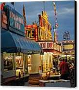 Food Court Canvas Print by Skip Willits
