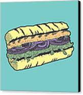 Food Masquerade Canvas Print by Freshinkstain