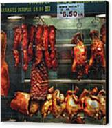Food - Roast Meat For Sale Canvas Print by Mike Savad