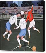 Football Canvas Print by Jerzy Marek