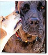 For The Love Of Dogs Canvas Print by Janice Rae Pariza