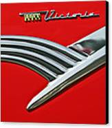 Ford Crown Victoria Emblem Canvas Print by Jill Reger
