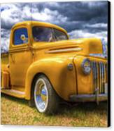 Ford Jailbar Pickup Hdr Canvas Print by Phil 'motography' Clark