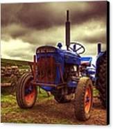 Fordson Super Dexta Tractor On Shetland Croft Canvas Print by Anne Macdonald