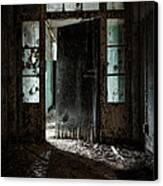 Foreboding Doorway Canvas Print by Gary Heller