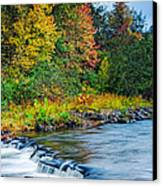 Foretelling Of A Storm Beaver's Bend Broken Bow Fall Foliage Canvas Print by Silvio Ligutti
