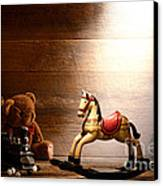 Forgotten Toys Canvas Print by Olivier Le Queinec