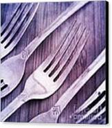 Forks Canvas Print by Priska Wettstein