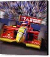 Formula Racing Car At Speed Canvas Print by Don Hammond
