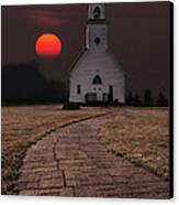 Fort Belmont Sunset Canvas Print by Aaron J Groen