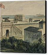 Fort Moultrie Circa 1861 Canvas Print by Aged Pixel