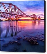 Forth Rail Bridge Stunning Sunrise Canvas Print by John Farnan
