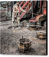 Foundry Worker Canvas Print by Adrian Evans