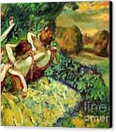 Four Dancers Canvas Print by Pg Reproductions