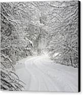 Four Wheel Winter Canvas Print by John Haldane