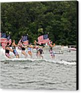 Fourth Of July On The Lake Canvas Print by Susan Leggett