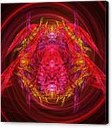 Fractal - Insect - Jeweled Scarab Canvas Print by Mike Savad