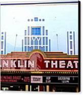 Franklin Theatre Canvas Print by Anthony Jones