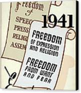 Freedom Everywhere In The World Canvas Print by Daniel Hagerman