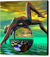 Freedom Of Expression Canvas Print by Sandra Bauser Digital Art