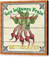 French Vegetable Sign 4 Canvas Print by Debbie DeWitt