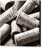 French Wine Corks Canvas Print by Olivier Le Queinec