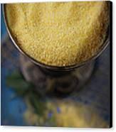 Fresh Corn Meal Canvas Print by Mythja  Photography