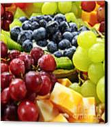 Fresh Fruits And Cheese Canvas Print by Elena Elisseeva