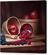 Fresh Fruits Still Life Canvas Print by Tom Mc Nemar