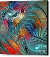 Fresh Mints And Cool Blues-abstract Fractal Art Canvas Print by Karin Kuhlmann