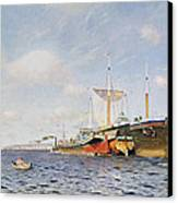 Fresh Wind On The Volga Canvas Print by Isaak Ilyich Levitan