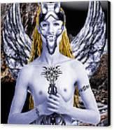 Freya Viking Warrior Canvas Print by Keith Dillon