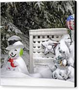 Frosty The Snow Man Canvas Print by Thomas Woolworth