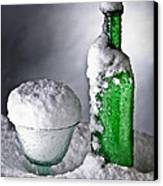 Frozen Bottle Ice Cold Drink Canvas Print by Dirk Ercken