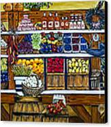 Fruit And Vegetable Market By Alison Tave Canvas Print by Sheldon Kralstein