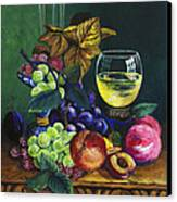 Fruit And Wine Canvas Print by Karon Melillo DeVega