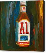 Full Flavored - A.1 Steak Sauce Canvas Print by Patricia Awapara