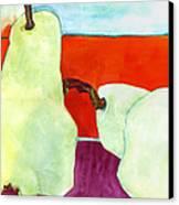 Fundamental Pears Still Life Canvas Print by Blenda Studio