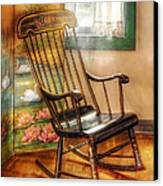 Furniture - Chair - The Rocking Chair Canvas Print by Mike Savad