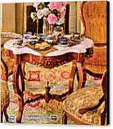 Furniture - Chair - The Tea Party Canvas Print by Mike Savad