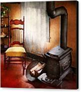 Furniture - Chair - Where She Spent Most Of Her Days Canvas Print by Mike Savad