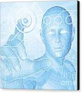 Future Man Touch Screen Concept Canvas Print by Christos Georghiou