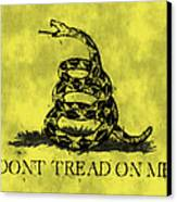 Gadsden Flag - Dont Tread On Me Canvas Print by World Art Prints And Designs