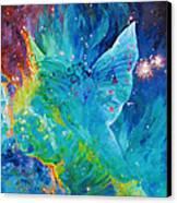Galactic Angel Canvas Print by Julie Turner