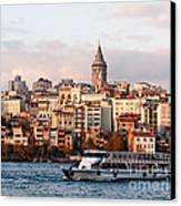Galata Skyline 03 Canvas Print by Rick Piper Photography